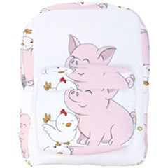 Go Vegan   Cute Pig And Chicken Full Print Backpack by Valentinaart