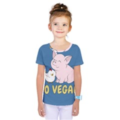 Go Vegan   Cute Pig And Chicken Kids  One Piece Tee