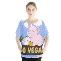 Go Vegan   Cute Pig And Chicken Blouse