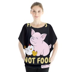 Friends Not Food   Cute Pig And Chicken Blouse by Valentinaart