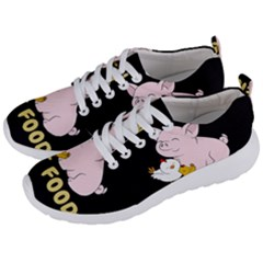 Friends Not Food   Cute Pig And Chicken Men s Lightweight Sports Shoes by Valentinaart