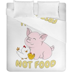 Friends Not Food   Cute Pig And Chicken Duvet Cover Double Side (california King Size)