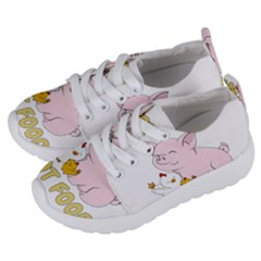 Friends Not Food   Cute Pig And Chicken Kids  Lightweight Sports Shoes by Valentinaart