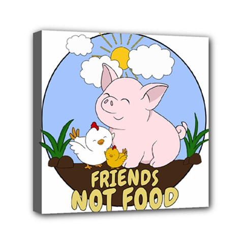 Friends Not Food   Cute Pig And Chicken Canvas Travel Bag by Valentinaart