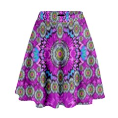 Spring Time In Colors And Decorative Fantasy Bloom High Waist Skirt by pepitasart