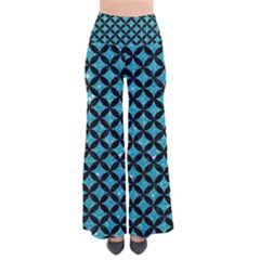 Circles3 Black Marble & Turquoise Glitter Pants by trendistuff