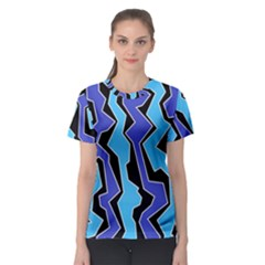 Vertical Blues Polynoise Women s Sport Mesh Tee