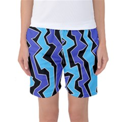 Vertical Blues Polynoise Women s Basketball Shorts
