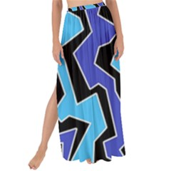 Vertical Blues Polynoise Maxi Chiffon Tie Up Sarong