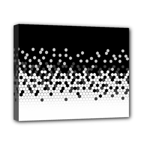 Flat Tech Camouflage Black And White Canvas 10  X 8