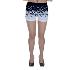 Flat Tech Camouflage Black And White Skinny Shorts