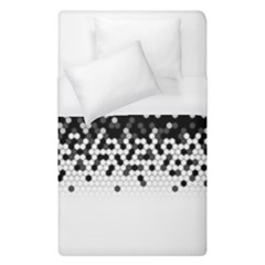 Flat Tech Camouflage Black And White Duvet Cover (single Size) by jumpercat