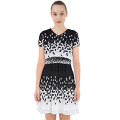 Flat Tech Camouflage Black And White Adorable In Chiffon Dress by jumpercat