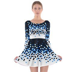 Flat Tech Camouflage Reverse Blue Long Sleeve Skater Dress by jumpercat