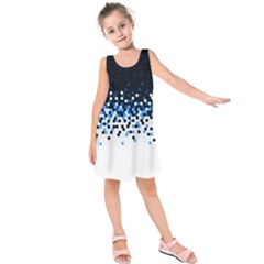 Flat Tech Camouflage Reverse Blue Kids  Sleeveless Dress by jumpercat