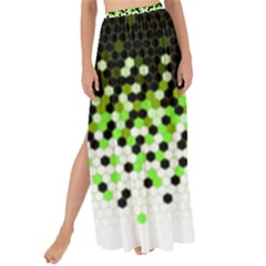 Flat Tech Camouflage Reverse Green Maxi Chiffon Tie Up Sarong by jumpercat