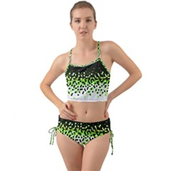 Flat Tech Camouflage Reverse Green Mini Tank Bikini Set