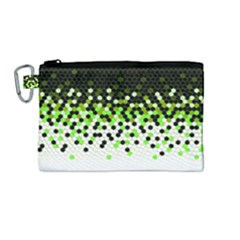 Flat Tech Camouflage Reverse Green Canvas Cosmetic Bag (medium)