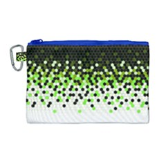 Flat Tech Camouflage Reverse Green Canvas Cosmetic Bag (large)