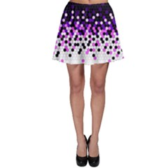 Flat Tech Camouflage Reverse Purple Skater Skirt by jumpercat