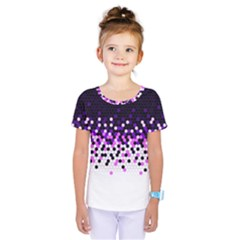 Flat Tech Camouflage Reverse Purple Kids  One Piece Tee