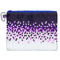 Flat Tech Camouflage Reverse Purple Canvas Cosmetic Bag (xxl) by jumpercat