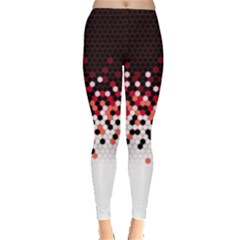 Flat Tech Camouflage Reverse Red Leggings