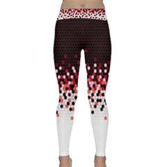 Flat Tech Camouflage Reverse Red Classic Yoga Leggings by jumpercat
