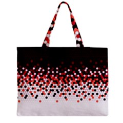 Flat Tech Camouflage Reverse Red Medium Tote Bag by jumpercat