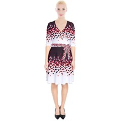 Flat Tech Camouflage Reverse Red Wrap Up Cocktail Dress by jumpercat