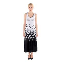 Flat Tech Camouflage White And Black Sleeveless Maxi Dress by jumpercat