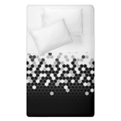 Flat Tech Camouflage White And Black Duvet Cover Double Side (single Size) by jumpercat