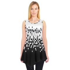 Flat Tech Camouflage White And Black Sleeveless Tunic by jumpercat