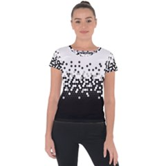 Flat Tech Camouflage White And Black Short Sleeve Sports Top