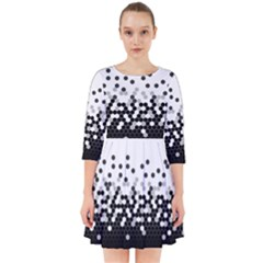 Flat Tech Camouflage White And Black Smock Dress by jumpercat