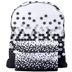 Flat Tech Camouflage White And Black Giant Full Print Backpack