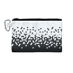 Flat Tech Camouflage White And Black Canvas Cosmetic Bag (medium)