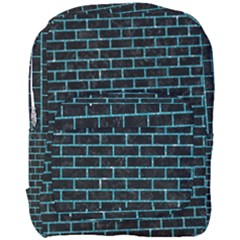 Brick1 Black Marble & Turquoise Glitter (r) Full Print Backpack by trendistuff