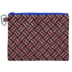 Woven2 Black Marble & Red Glitter (r)woven2 Black Marble & Red Glitter (r) Canvas Cosmetic Bag (xxl) by trendistuff