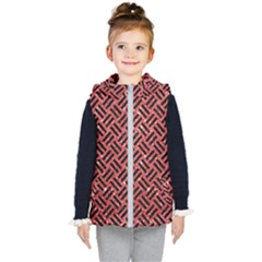 Woven2 Black Marble & Red Glitter Kid s Puffer Vest