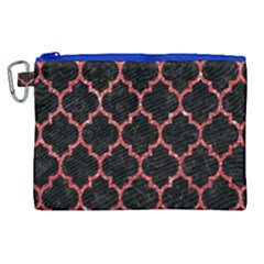 Tile1 Black Marble & Red Glitter (r) Canvas Cosmetic Bag (xl)