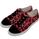 SKIN5 BLACK MARBLE & RED GLITTER (R) Men s Low Top Canvas Sneakers View2