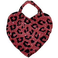 Skin5 Black Marble & Red Glitter (r) Giant Heart Shaped Tote by trendistuff