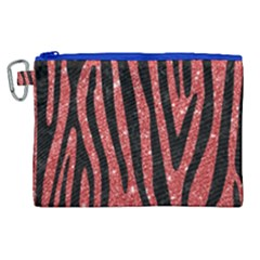 Skin4 Black Marble & Red Glitter (r) Canvas Cosmetic Bag (xl)