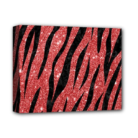 Skin3 Black Marble & Red Glitter Deluxe Canvas 14  X 11  by trendistuff