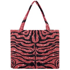 Skin2 Black Marble & Red Glitter Mini Tote Bag by trendistuff