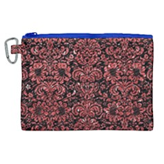 Damask2 Black Marble & Red Glitter (r) Canvas Cosmetic Bag (xl)