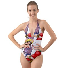 Quente Halter Cut Out One Piece Swimsuit