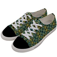 Arabesque Seamless Pattern Women s Low Top Canvas Sneakers by dflcprints