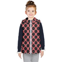 Circles2 Black Marble & Red Glitter Kid s Puffer Vest